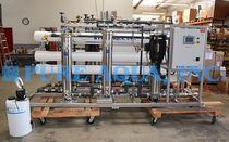 This industrial RO was designed to purify well water targeting sulfate reduction for irrigation use in the US. Ro Unit, Life Cycle Costing, Reverse Osmosis Water, Pressure Pump, Water Purification, Water Well, Water Treatment, Irrigation, Energy Efficiency