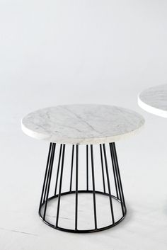 Marble and wire tables