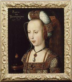 Portrait of Marie de Bourgogne , 1482, in the Ecole Flamande