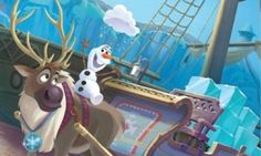 Olaf and Sven from disney's frozen