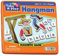 Travel Magnetic Hangman Game