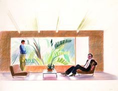 Official Works by David Hockney including exhibitions, resources and contact information. David Hockney, New Art, Still Life, 1970s, It Works, Exhibitions, Drawings, Illustration, Painting