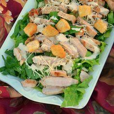 Pork Caesar Salad from Smithfield #DeliciousInMinutes #Ad #AllstarsSmithfield