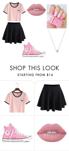 """""""Untitled #157"""" by cruciangyul on Polyvore featuring WithChic, Converse, Lime Crime and Links of London"""