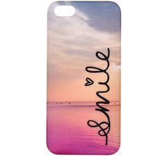 Smile Sea View Phone Case iPhone 5/5S found on Polyvore