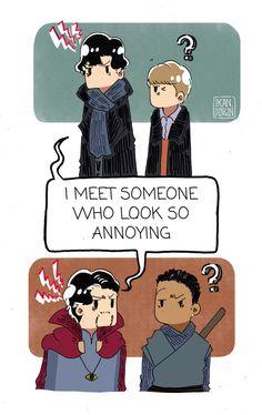 doctor strange | Tumblr Doctor Who, Doctor Strange, Sherlock Holmes Bbc, Sherlock John, Martin Freeman, Marvel Art, Marvel Dc Comics, Benedict Cumberbatch Sherlock, Fandom Crossover