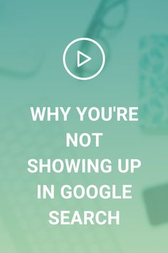 Wondering why you're not showing in Google search, even after you've done all of the SEO things you think you're supposed to do?