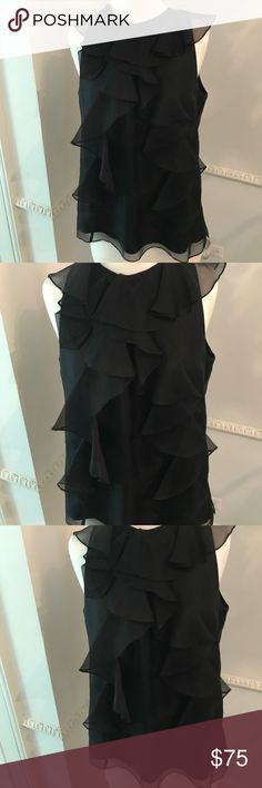 AUTHENTIC MILLY BLOUSE This chiffon Milly blouse is so beautiful made in New York it is one of the top designers it's fun to just wear this shirt with a pair jeans and some heels you can dress it up or dress it down because it's MILLY Milly Tops Blouses