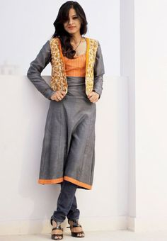 Colored Cotton Kurti