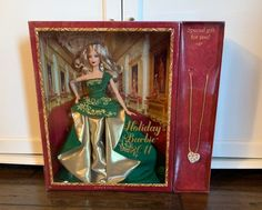 2011 Barbie Collector Holiday Barbie with a necklace Mattel Dolls, Barbie Collector, Special Gifts, Holiday, Painting, Art, Art Background, Vacations, Painting Art
