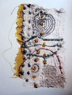 More than often, studying something too much may lead to confusion - Junko Oki I used red thread to create stitches that capture my s...