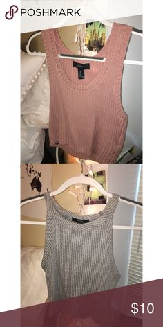2 for 10 - Blush Colored and Gray Crop Top Never used. Blush - size M. Gray - size L. Tops Crop Tops