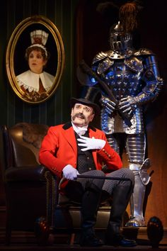 Jefferson Mays during a performance of A Gentleman's Guide to Love and Murder at the Walter Kerr Theatre in New York. Broadway Theatre, Musical Theatre, Broadway Shows, Theatre Actors, Broadway Costumes, Cool Costumes, Jessie Mueller, Chris O'dowd, Jacob Marley