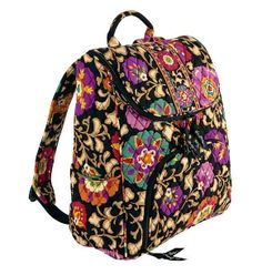 Vera Bradley DOUBLE ZIP BACKPACK ~ SUZANI Pattern ~ New/NWT #VeraBradley #BackpackStyle
