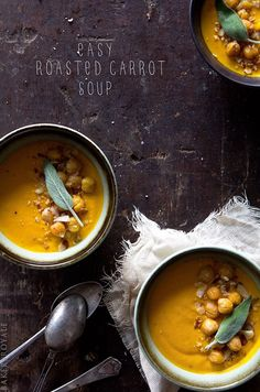Easy Roasted Carrot Soup Recipe from Bakers Royale