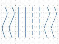 Igualdad o equivalencia (Agrupamiento). Se produce cuando hay elementos de diferentes clases, formas o colores; aquellos que pueden ser asimilados con un mismo patrón se agrupan en nuevas entidades más complejas. En esta figura distinguiremos por tanto cuatro conjuntos formados por líneas paralelas.