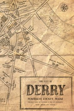 Map of Derry Maine the location of Stephen Kings novel IT now