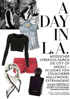 """A day in L.A."" by rhiansandall ❤ liked on Polyvore"
