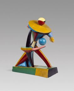 Alexander Archipenko, Carrousel Pierrot, 1913. Painted plaster, 24 x 19 1/8 x 13 3/8 inches (61 x 48.6 x 34 cm)