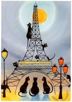 Un puñado de gatos en París