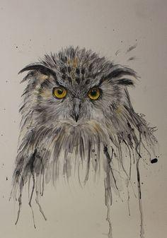 Owl by ~Sajana25 on deviantART