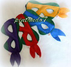 Tartarugas Ninja - Mascara | pintando7 | Elo7 - 3,80