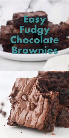 These gooey Homemade Brownies are better than any boxed brownies youll ever make. The middle is dense rich and fudgy with a flakey layer on top. If youve never made brownies from scratch youre sure to love this easy recipe. Brownie Recipe Video, Fudgy Brownie Recipe, Brownie Recipes, Chocolate Recipes, Starbucks Brownie Recipe, Homemade Chocolate, Easy Baking Recipes, Easy Cake Recipes, Sweet Recipes