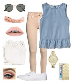"""Casual Cute"" by sierra-alayna on Polyvore featuring H&M, Gap, Vans, Ray-Ban, Aéropostale, Mansur Gavriel and Kate Spade"