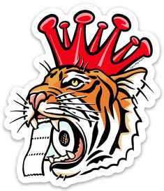 Corona King Tiger Sticker King, Stickers, Crown, Sticker, Decals