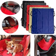 Pet Cat Dog Back Car Seat Cover Hammock Protector Mat Blanket Waterproof Travel. Features:    wear Non-slip, Tough, Pet Enhance Comfort And To Prevent Damage To The Car Seat.  easy Loading And Unloading, Storing Not The Compact Space.  easy To Clean, Washable, Easy To Dry, Ultra-lightweight Materials.    specifications:    product Name: Car Pet Seat  material: Oxford Cloth  color: Blue, Black, Red, Grey, Cream-colored  size: Approx. 140x110cm/55.1'x43.3'    package Includes:    1x Car Pet…