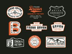 Some ok badges like a modern version of what they have. Logo Inspiration, Typographie Inspiration, Typography Logo, Typography Design, Logo Branding, Corporate Branding, Gig Poster, Brand Identity Design, Branding Design