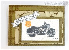 One Wild Ride masculin card Harley Davidson Route66 Born to Ride