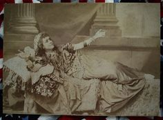 Cabinet Card of Pretty Actress Playing Cleopatra Circa 1880 Early Theather Photo | eBay