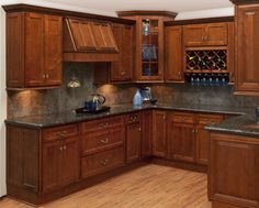 J-Mark Premium Shaker kitchen cabinets by Fat Cat Cabinets.