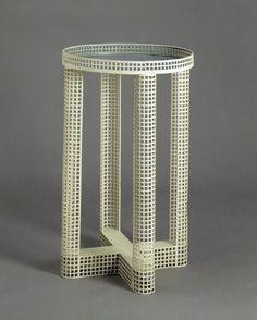 Smoking table, designed by Josef Hoffmann, made by Wiener Werkstätte, Vienna, 1910.