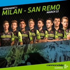 Cannondale-Garmin @Ride_Argyle #MilanSanRemo! #Monument! We're ready to roll tomorrow. Get your best cheers ready for us! pic.twitter.com/ySiHqC605D