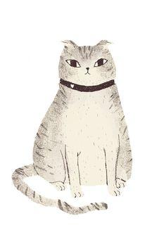 Fat cat art print by Louis Roskosch. Illustrations, Illustration Art, Video Chat, Drawn Art, Cute Cat Drawing, Cat Sketch, Cat Art Print, Photo Chat, Here Kitty Kitty