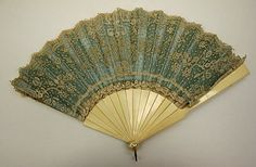 Fan 1886, American, Made of silk and ivory