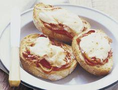 Bacon & Mozzarella Open-Faced Grilled Cheese