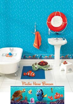 Find This Pin And More On Boys Theme Room Lol Finding Nemo For The Bathroom