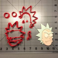 Rick and Morty- Rick Cookie Cutter Set