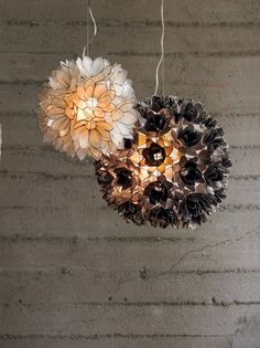 Lotus flower chandelier artisans assemble hand cut capiz shells lotus flower lamps cant wait to get mine aloadofball Images