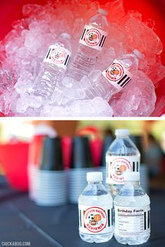 All-star sports theme birthday party - personalized water labels! Sports Theme Birthday, Birthday Party Themes, Birthday Ideas, Football And Basketball, Sports Party, All Star, Stars, Water, Inspiration