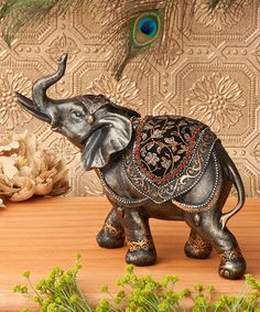 Look at this Standing Elephant Figurine on #zulily today!