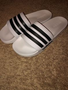 545d435aefe Men Adidas NEO CF Adilette Slide Sandal AQ1702 White Black White Brand New   fashion  clothing  shoes  accessories  mensshoes  sandals (ebay link)