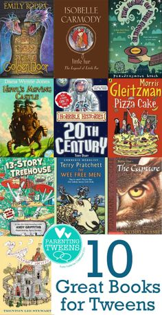 """10 Great Books for Tweens - we didn't like """"The name of this book is Secret"""" - but the rest look promising."""