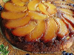 upside down cake, caramelly goodness baked in a skillet.