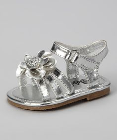 9980d0c338e Silver Flower Sandal Girls Sandals