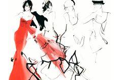 Alta-costura em aquarela e pinceis: conheça David Downton // 17-07-2013 // Notícias // FFW Fashion Forward