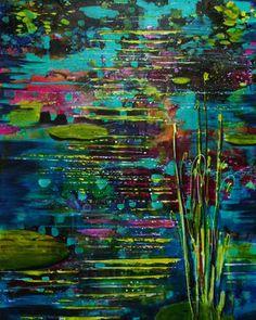 Scrivener Art & DesignLand Water and Sea —Patt Scrivener AFCA . Marine Life, Waterfall, Ocean, Sky, Texture, Abstract, Artist, Painting, Heaven